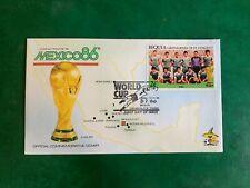ST VINCENT BEQUIA 1986 FDC WORLD CUP FOOTBALL IRAQ