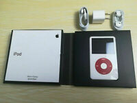 Apple iPod classic 5th Generation U2 Special Edition White/Red 30GB Warranty