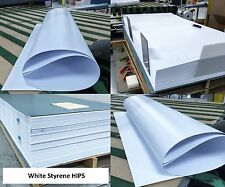 """White Poly-Styrene Plastic Vacuum-Forming HIPS Sheet 15mil x 48"""" x 96"""" (Qty:3)"""