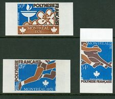 French Polynesia Olympische Spiele Olympic Games 1976 Imperforated set MNH RRR