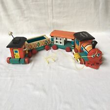 999 Fisher-Price Huffy Puffy train c1963 pull toy