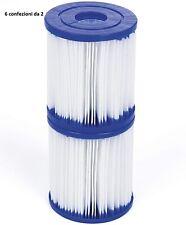 Set 12 cartuccia filtro per pompa piscina Bestway 1249lt Cartuccia Tipo I 8x9 cm