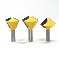 "3 Bit Bird's Mouth Router Bit Set - 1/2"" Shank"