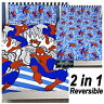 SPIDERMAN HOMECOMING MOVIE POPART DOUBLE DUVET QUILT COVER SET KIDS BLUE BEDDING