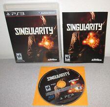 SINGULARITY PlayStation 3 w/Manual Raven Software Sci-Fi Time Manipulation FPS