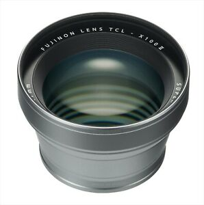 FUJIFILM TCL-X100 II Tele Conversion Lens for X100F/X100T/X100S Silver Japan NEW