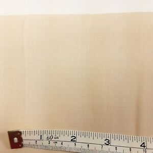 """3 yards Light Yellow Beige Cotton Fabric 44"""" Wide Quilt Craft Sewing"""
