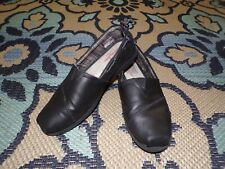 Bobs from Skechers size 8 memory foam black leather slip ons shoes