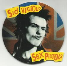 SEX PISTOLS sid vicious union jack RARE shaped CARD STICKER no longer made OOP