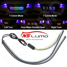 2xLED Light Night Rider Strip Scanner Bars Under Hood Behind Grille RGB 7 Colors