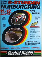 8. International ADAC 8-Stunden 11 12. Juin 83 Motos Du Monde Nürburgring II05 Å