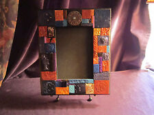 INDIGO TIME mosaic tiled mirror is handmade 9x11 (5x7 mirror), spectacular!