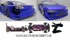 NISSAN S15 Custom 1/10 Scale Remote Control Onroad  Drift Car BLUE