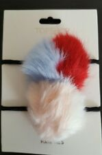 NewTopshop Fake Fur Pom Pom Hair Bands hair Ties Festival RRP £6
