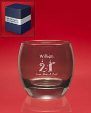Personalised Engraved GREY DOFW/Whisky/Brandy/Mixer Tumbler Glass+Message+Image