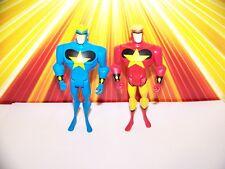 Justice League Unlimited Starman Lot Blue + Red Variant JLU JSA Mattel