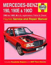 3450 Haynes Mercedes-Benz 190, 190E & 190D (1983 - 1993) A to L Workshop Manual