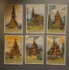 """LB 137 - 6 Images/Prenten LIEBIG  """" Eglises en bois """""""
