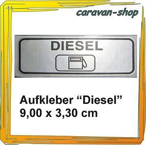 """Aufkleber """"Diesel"""" zur Kennzeichnung der Einfüllstutzen bei Wohnmobil Reisemobil"""
