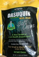 NUTRAMAX DASUQUIN 84 Soft Chews With MSM SMALL to MEDIUM Dogs UNDER 60 LBS