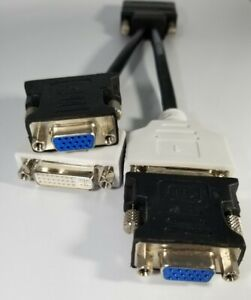 DMS-59 Dual DVI Female 2X  VGA Adapters Splitter Video Cable AMD Nvidia Dell HP