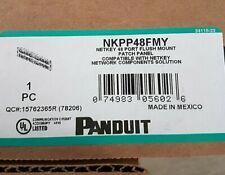 Lot of Three (3) NEW Panduit NKPP48FMY 48 Port Flush Mount Patch Panels