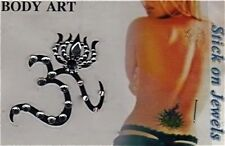 BODY TATTOO TEMPORARY ART STICKER belly dancing festival Om sign bindi gypsy