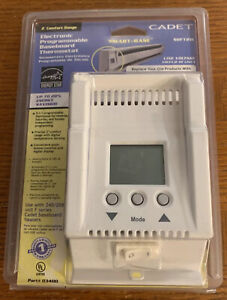 Cadet Smart-Base Electronic Programmable Baseboard Thermostat SBFT2W White -New