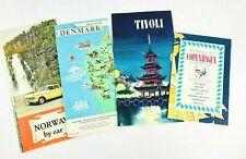 60s Vtg Guides & Maps of Monumental Copenhagen, Denmark, Tivoli Gardens,Norway