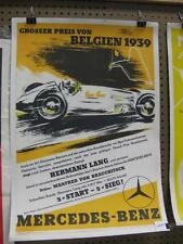 Mercedes 1939 Factory Racing poster-Belgium