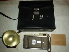 Polaroid 80A Vintage camera with leather case & flash rare antique