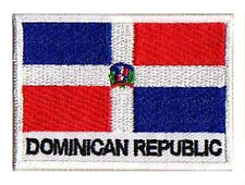Ecusson patche patch drapeau REP. DOMINICAINE 70 x 45 mm brodé