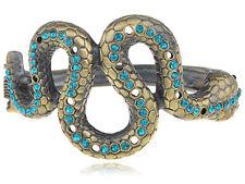 Vintage Blue Zircon Rhinestone Snake Body Wrap Bracelet Cuff Fashion Jewelry