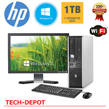 HP Desktop PC Computer Windows 10 Core 2 Duo 4GB Ram 1TB WiFi 19