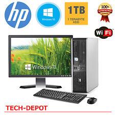 HP Desktop PC Computer Windows 10 Core 2 Duo 4GB Ram 1TB WiFi 19
