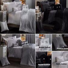 BLING CRUSHED VELVET Duvet Quilt Cover Bedding Set WHITE SILVER GREY BLACK