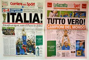 6710 Newspaper Corriere Dello Sport Journal Campioni World 2006 Collectibles