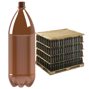 2 Litre Amber Plastic Bottles: Beer, Cider Takeaway Bottling Screw Caps 440 Pack