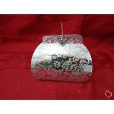 Boite à gâteau mariage ou baptême argenté/argenté petite taille x25