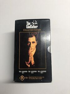 THE GODFATHER Collectors Edition - 3 VHS Set Part 1, 2 & 3