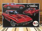 Chevrolet Corvette Vintage Style Metal Stingray Garage Man Cave Red Split Window