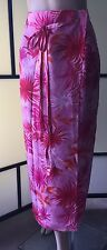 Worthington Woman Wrap-around Resort Maxi skirt Sarong size 20W, Pink Tropical
