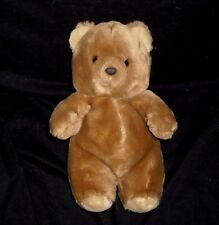 "11"" VINTAGE 1986 PRESTIGE TOY CORP BROWN BABY TEDDY BEAR STUFFED ANIMAL PLUSH"