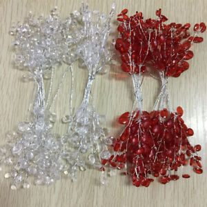 10x Acrylic Flower Branch Flower String For Wedding Party Home Crafts Decoration