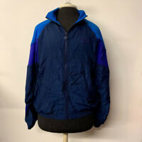VTG Reebok Blue Purple Color Block Windbreaker Jacket 80s 90s Adult Size Medium
