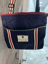 original authentic GUCCI unisex shoulder / messenger / nylon cross body navy bag