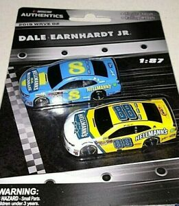 NASCAR AUTHENTICS 2019 1/87 #8 & #88 DALE EARNHARDT JR. HELLMANN'S CARS WAVE 2