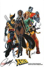 J Scott Campbell SIGNED Marvel Comic X-Men Art Print ~ Wolverine Storm Jean Grey