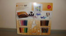 GLITTER SET Handcraft For Cards 15 Colours In Various Shapes NEW