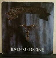 BON JOVI - BAD MEDICINE - 99 IN THE SHADE  45 GIRI VINILE 1988 IMPORT